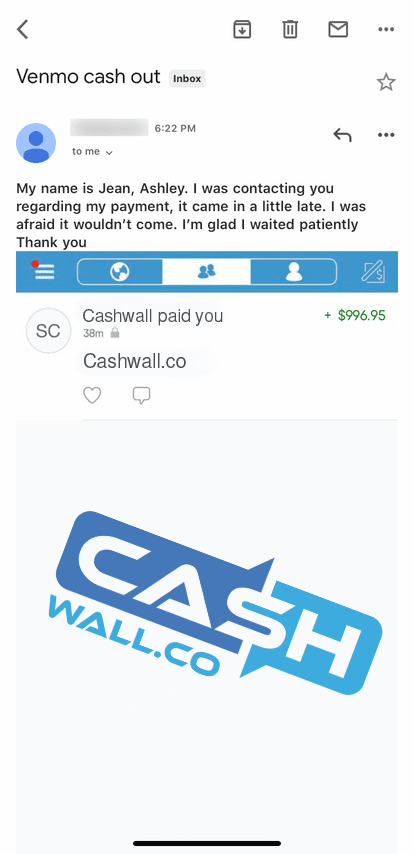 CashWall Payment Proof